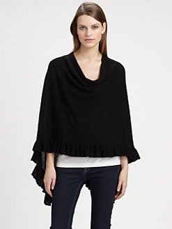 Minnie Rose - Ruffled Cashmere Ruana