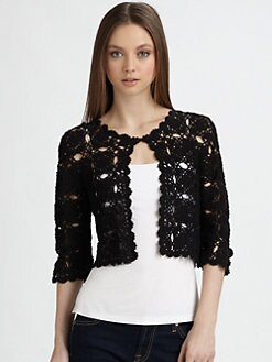 Harrison Morgan - Cotton Crochet Cardigan