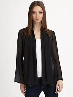Harrison Morgan - Silk Georgette Kimono Cardigan