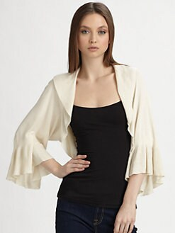 Harrison Morgan - Knit Kimono Sleeve Shrug