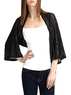 Harrison Morgan - Sequined Knit Shrug