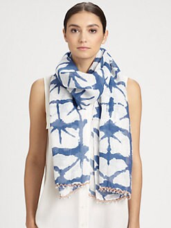 Bajra - Linen Floral Print Scarf