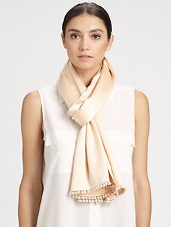 Bajra - Ball Fringe Satin Weave Scarf