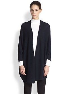Minnie Rose - Tie-Front Cashmere Duster
