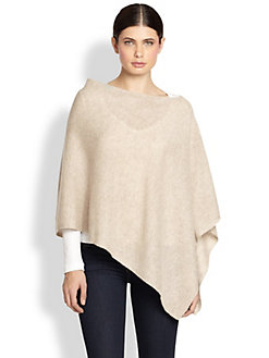 White + Warren - Cashmere Two-Way Diagonal Topper