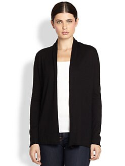 White + Warren - Essential Open Cardigan