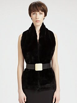 Maison Martin Margiela - Reversible Fur & Denim Scarf