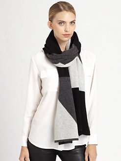 White + Warren - Colorblock Cashmere Scarf