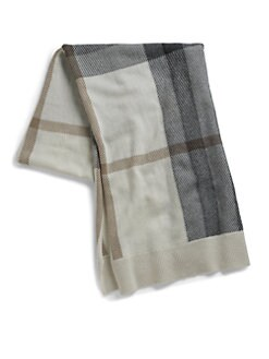 Burberry - Half Mega Check Cashmere Scarf