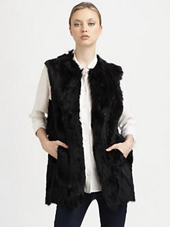 Adrienne Landau - Textured Rabbit Vest