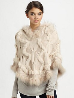 Glamourpuss - Cashmere & Asiatic Raccoon Fur Poncho