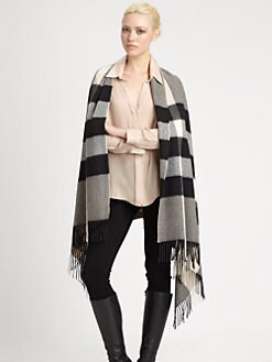 Burberry - Large Check Cashmere Wrap