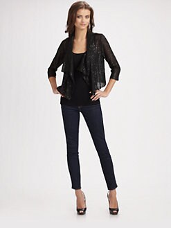 Harrison Morgan - Drape Front Cardigan
