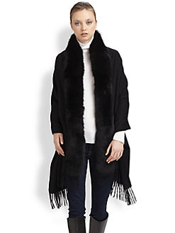 Adrienne Landau - Fox Fur Cashmere Stole