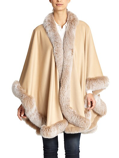 Cashmere  Fox Fur Cape $1,374.34 AT vintagedancer.com