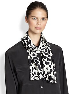 Burberry - Animal Print Silk Scarf