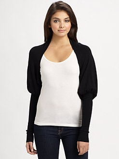 Harrison Morgan - Knit Mutton Sleeve Shrug