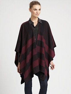 Burberry - St. Cecily Check Cashmere Cape
