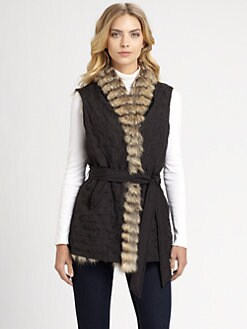 sherry cassin - Reversible Coyote Fur Vest