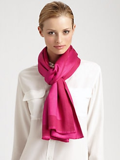 Bajra - Silk & Cashmere Frame Satin Scarf