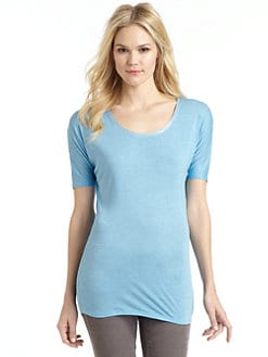 BLUE Saks Fifth Avenue - Drop Shoulder Short-Sleeve Tee