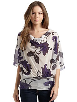Sweet Pea by Stacy Frati - Floral Dolman Blouse