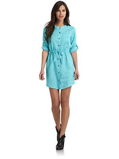 BLUE Saks Fifth Avenue - Linen Shirt Dress