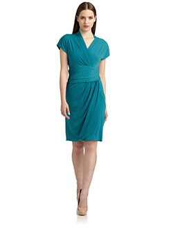 Suzi Chin - Faux-Wrap Dress