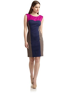 Suzi Chin - Sleeveless Colorblock Dress