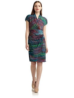 Suzi Chin - Abstract Ruched Cocktail Dress