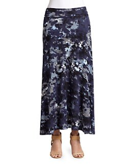 BLUE Saks Fifth Avenue - Abstract-Print Jersey Maxi Skirt
