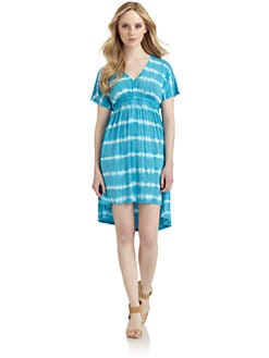 BLUE Saks Fifth Avenue - Tie Dyed Hi-Lo Dress