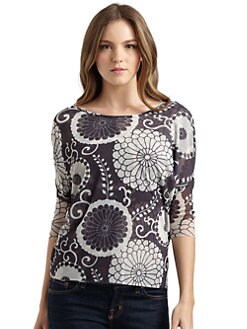 Sweet Pea by Stacy Frati - Printed Hi-Lo Blouse