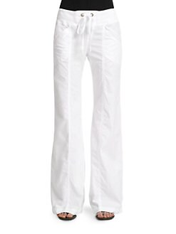 BLUE Saks Fifth Avenue - Drawstring Flare-Leg Pants
