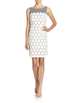 BLACK Saks Fifth Avenue - Lace Overlay Dress