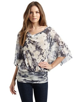 Sweet Pea by Stacy Frati - Abstract Floral Dolman Blouse