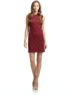 BLACK Saks Fifth Avenue - Lace Shift Dress