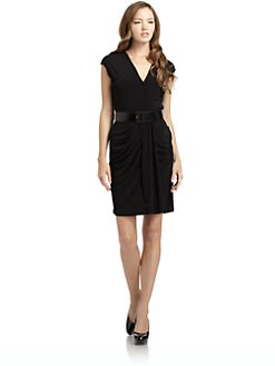 BLACK Saks Fifth Avenue - Draped Sheath Dress