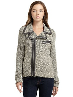 BLACK Saks Fifth Avenue - Marled Jacket