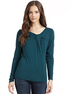 BLACK Saks Fifth Avenue - Twist-Neck Top