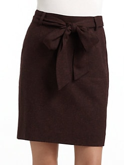 BLACK Saks Fifth Avenue - Tweed Bow Pencil Skirt