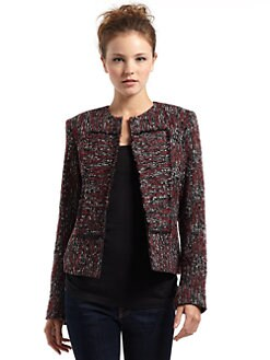 BLACK Saks Fifth Avenue - Space Dyed Tweed Jacket