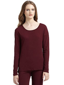 5/48 - Basics Long-Sleeve Tee/Merlot