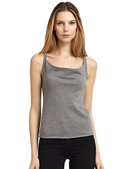 BLACK Saks Fifth Avenue - Metallic Shimmer Knit Cami