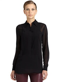 BLACK Saks Fifth Avenue - Lace Panel Blouse