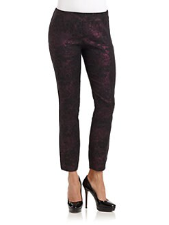 BLACK Saks Fifth Avenue - Metallic Foil Floral Pants