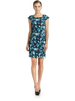 BLACK Saks Fifth Avenue - Cabbage Print Dress