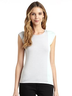 BLACK Saks Fifth Avenue - Colorblock Tank Top