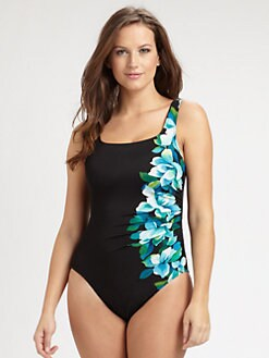 Miraclesuit Swim, Salon Z - One-Piece Hidden-Underwire Swimsuit