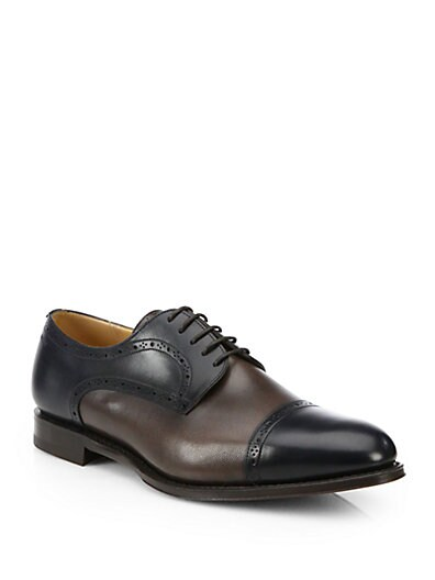 Two-Tone Oxford Shoes